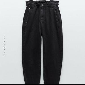 ZARA slouchy paperbag jeans